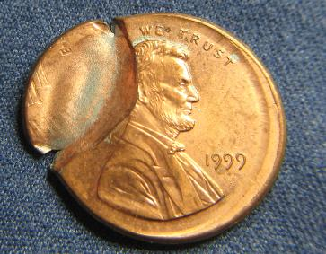 Brockage Lincoln Cent